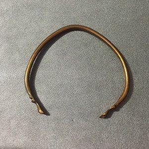 Vintage Brass Bracelet Sz M/L